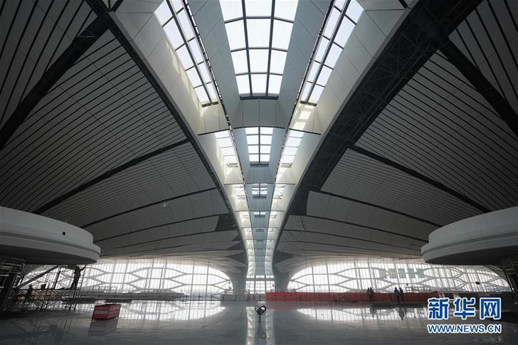 """(图文互动)(3)""""凤凰展翅""""精彩亮相——北京大兴国际机场建设新进展"""