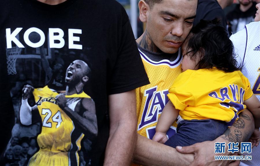 (体育)(5)科比和女儿吉安娜追思会在洛杉矶斯台普斯中心举行