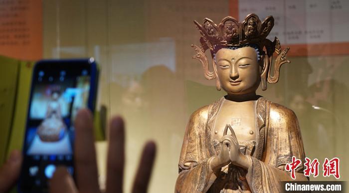 图为敦煌研究院举办的佛教艺术展。(资料图)魏建军摄